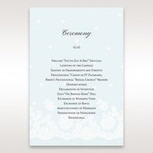 Silver/Gray Floral Couture in Blue & White - Order of Service - Wedding Stationery - 99
