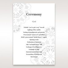 Black Laser Cut Floral Frame - Order of Service - Wedding Stationery - 34