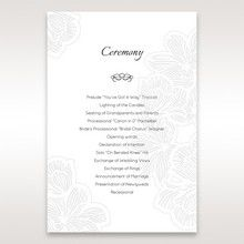 White Laser Cut Floral Lace - Order of Service - Wedding Stationery - 63