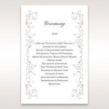 White Modern Times Vintage Pocket - Order of Service - Wedding Stationery - 97
