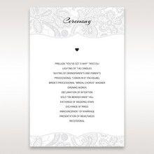 White White Dress - Order of Service - Wedding Stationery - 86