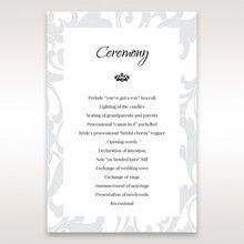 Blue Laser Scrolling Grandeur Layered Laser Cut - Order of Service - Wedding Stationery - 2