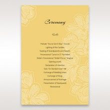Yellow/Gold Laser Cut Flower Frame III - Order of Service - Wedding Stationery - 68