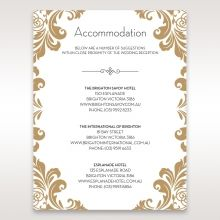 Golden Antique Pocket accommodation card DA11090