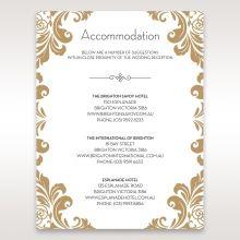 Golden Antique Pocket accommodation card DA11090