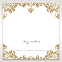 Golden Antique Pocket place card DP11090