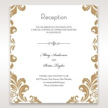 Golden Antique Pocket reception card DC11090