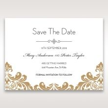 Golden Antique Pocket save the date DS11090