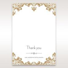 Golden Antique Pocket thank you card DY11090
