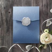 Graceful Wreath Pocket engagement invitations IAB11128-E