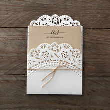 Brown Laser Cut Doily Delight - Wedding invitation - 22