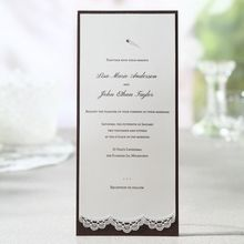 Lace Trimmed Jeweled Couture - Engagement Party Invitations - BH1536-E - 49162
