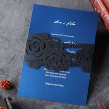 Flower Sash II Laser Cut  - Wedding Invitations - BH3540 - 39958