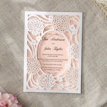 Pink Rustic Garden Laser Cut Pocket - Wedding invitation - 21