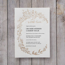 Yellow/Gold With Love Foil-Stamped - Wedding invitation - 35
