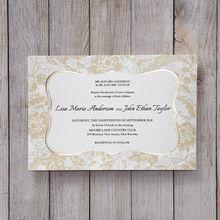 Yellow/Gold Vintage Floral Mirror Frame - Wedding invitation - 37