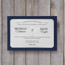 Blue Seaside Romance - Wedding invitation - 42