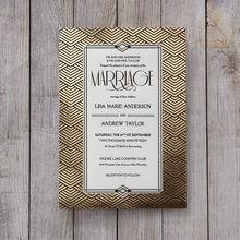 Yellow/Gold Dazzling Gold Foil Stamped - Wedding invitation - 46