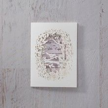 Purple Laser Cut Forest 3D Pocket - Wedding invitation - 45