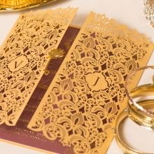 Imperial Glamour bridal shower invitations PWI116022-MS-B