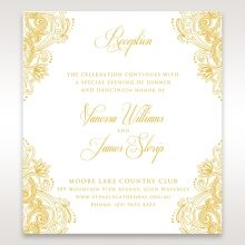 Imperial Glamour with Foil reception card DC116022-WH