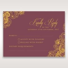 Imperial Glamour with Foil rsvp card DV116022-MS-F