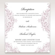 Jewelled Elegance reception card DC11591