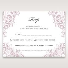 Jewelled Elegance rsvp card DV11591