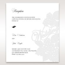 Laser Cut Floral Wedding reception card DC15086