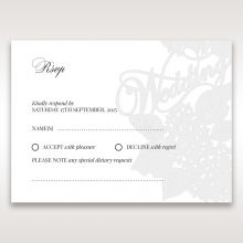 Laser Cut Floral Wedding rsvp card DV15086