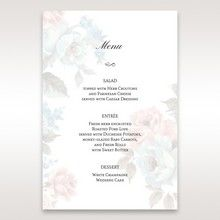 Blue Magical Flower Garden - Menu Cards - Wedding Stationery - 1