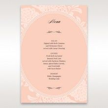 Pink Rustic Garden Laser Cut Pocket - Menu Cards - Wedding Stationery - 87