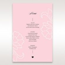 Pink Floral Laser Cut with Embossing - Menu Cards - Wedding Stationery - 94
