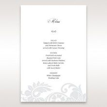 White Black Laser Cut Wrap with Ribbon - Menu Cards - Wedding Stationery - 7