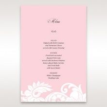 Pink Laser Cut Floral Half Pocket  - Menu Cards - Wedding Stationery - 11