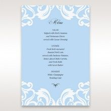 Blue Classy Laser Cut with White Bow - Menu Cards - Wedding Stationery - 13
