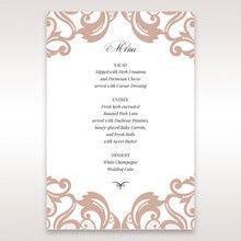 White Elegant Laser Cut Half Pocket with a Bow - Menu Cards - Wedding Stationery - 21