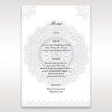 Blue Blue Elegance, Floral Couture - Menu Cards - Wedding Stationery - 48