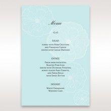 Blue Sculpted White Flower - Menu Cards - Wedding Stationery - 84