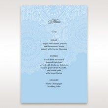 Blue Handmade Vintage Lace Floral - Menu Cards - Wedding Stationery - 2