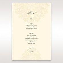 Brown Embossed Swirls Hard Layer - Menu Cards - Wedding Stationery - 5