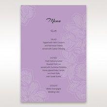 Purple Laser Cut Flower Frame III - Menu Cards - Wedding Stationery - 40