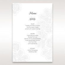 White Laser Cut Floral Lace - Menu Cards - Wedding Stationery - 18