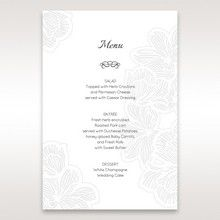 White Laser Cut Floral Lace - Menu Cards - Wedding Stationery - 81