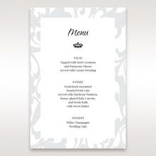 Blue Laser Scrolling Grandeur Layered Laser Cut - Menu Cards - Wedding Stationery - 34