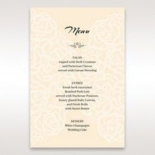 Yellow/Gold Laser Victorian Lace Laser Cut Wrap - Menu Cards - Wedding Stationery - 12