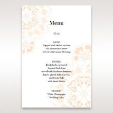 Orange Laser Cut Floral Frame - Menu Cards - Wedding Stationery - 70