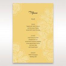 Yellow/Gold Laser Cut Flower Frame III - Menu Cards - Wedding Stationery - 55