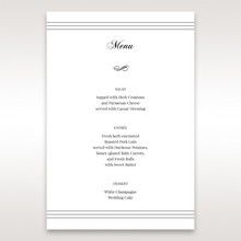 White Modern Pocket-Grey - Menu Cards - Wedding Stationery - 36