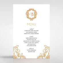 Modern Crest menu card DM116122-KI-GG